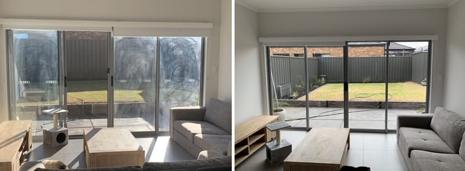 window cleaned by us before and after